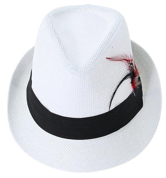 Y-BOA-cappello di paglia Fedora Trilby Panama sole mare 959585f48662
