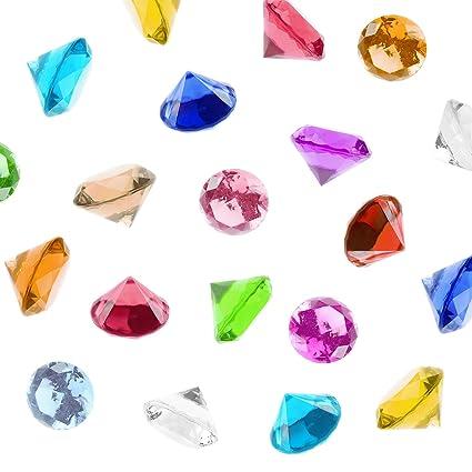 Amazon Acrylic Color Faux Round Diamond Crystals Treasure Gems