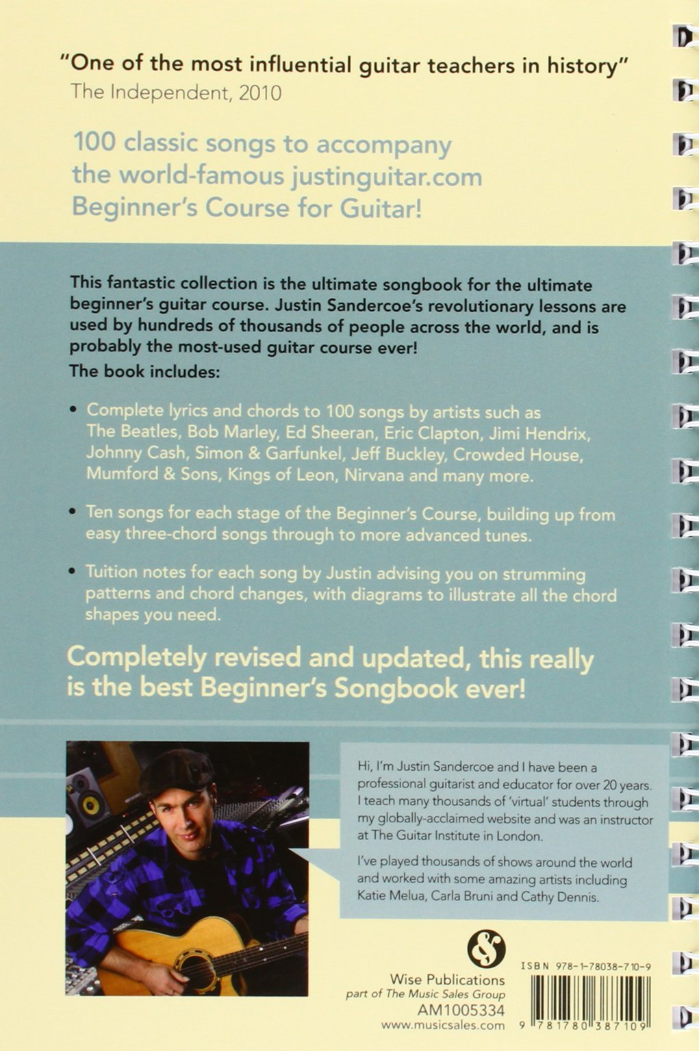 Justinguitar Beginners Songbook 100 Classic Songs Specially