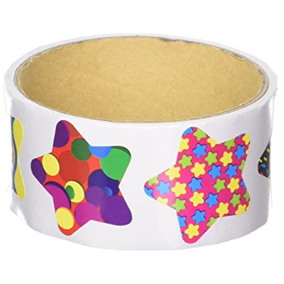 Funky Star Sticker Roll - 100 Stickers: Toys & Games