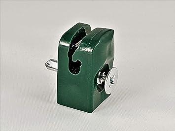 Spanndrahthalter mit Schraube Maschendraht Spanndraht Drahthalter Schwarz Grün