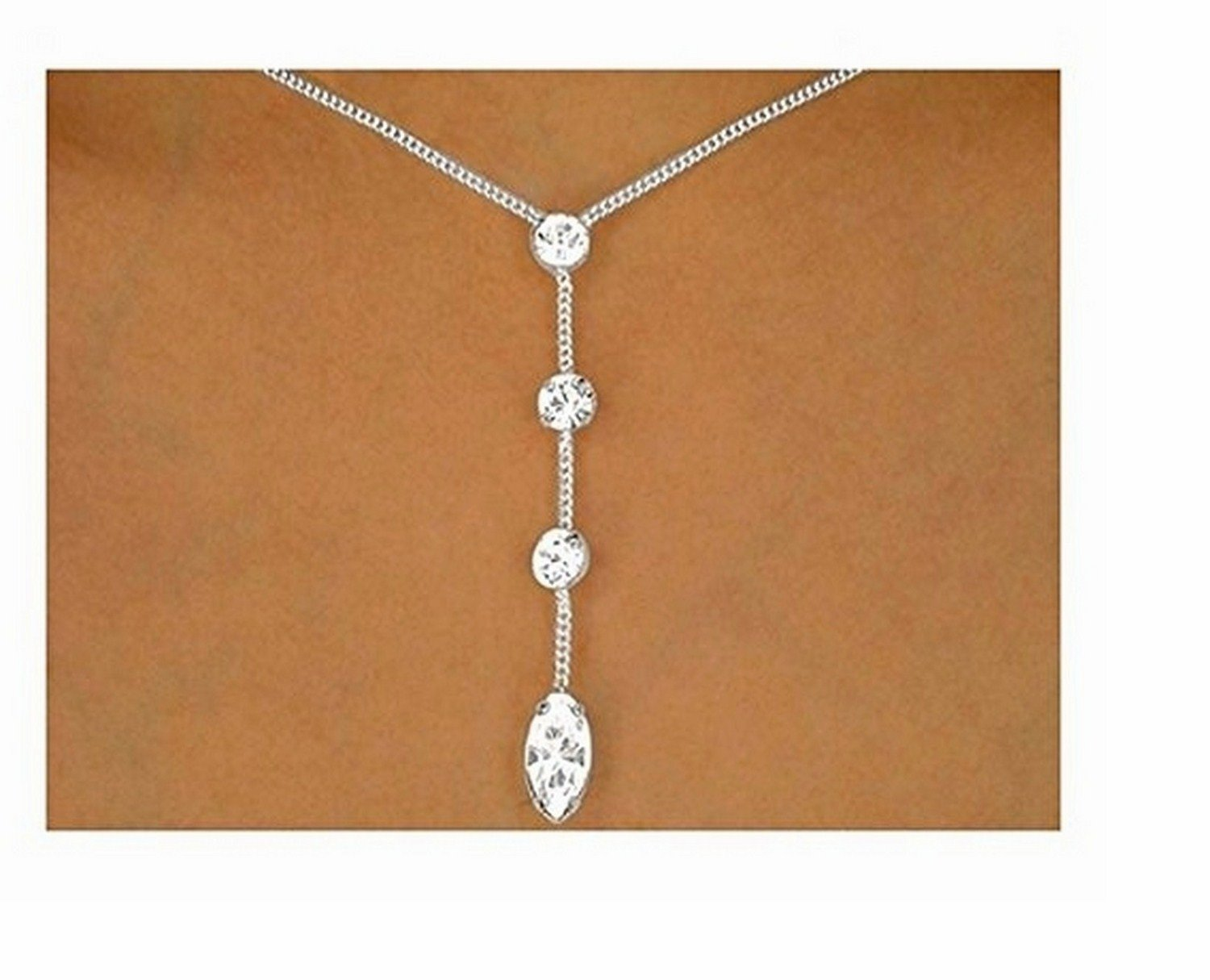 Polished Silver Tone Multi Austrian Crystal Strand Drop Necklace & Earring Set by Lonestar Jewelry