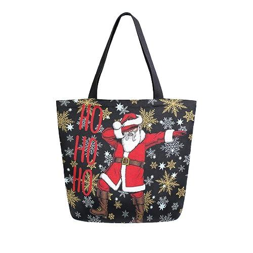 Naanle Bolsa de lona de Navidad grande para mujer, bolso de ...
