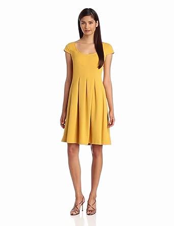 Nine West Dresses Women's Mini Waffle Fit And Flare Dress, Honeycomb, 6