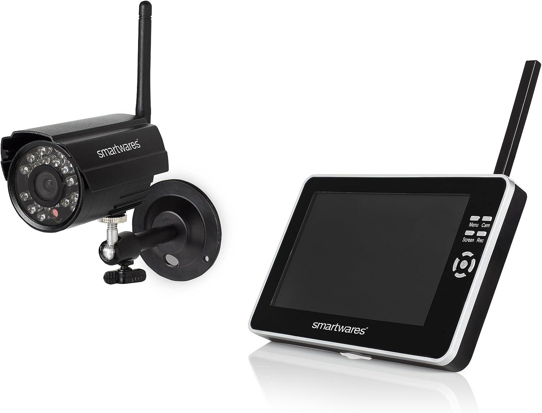 Noir Smartwares 10.100.48 CS87DVR Ensemble cam/éra de s/écurit/é sans fil