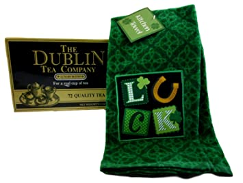 Amazon Com St Patrick S Kitchen Towel And Box Of Dublin Tea