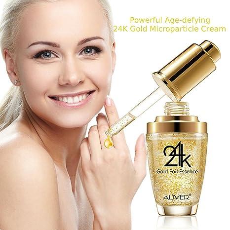Colágeno de oro de 24 quilates, ácido hialurónico y vitaminas A E D Gel Potente antiarrugas cara facial ...