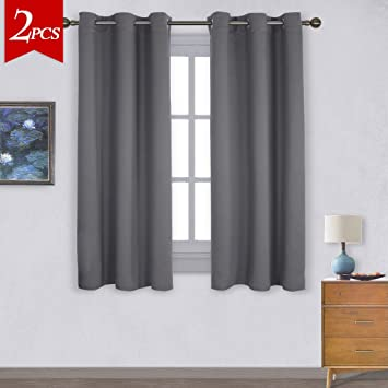 Perfect NICETOWN Thermal Insulated Grommet Blackout Curtains For Bedroom (2 Panels,  W42 X L63