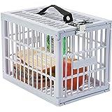 "Super Convenient Fridge Locker, Safe Lock Box with Metal Lock for Refrigerator Kids Safety, Size: 7 1/2"" x 11 x 7 1/2"" White Plastic, By Escest"
