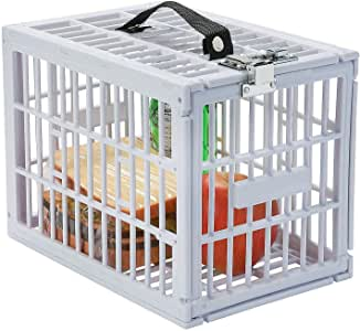 Escest Super Convenient Fridge Locker, Safe Lock Box with Metal Lock for Refrigerator Kids Safety, Size: 7 1/2 x 11 x 7 1/2 inch White Plastic
