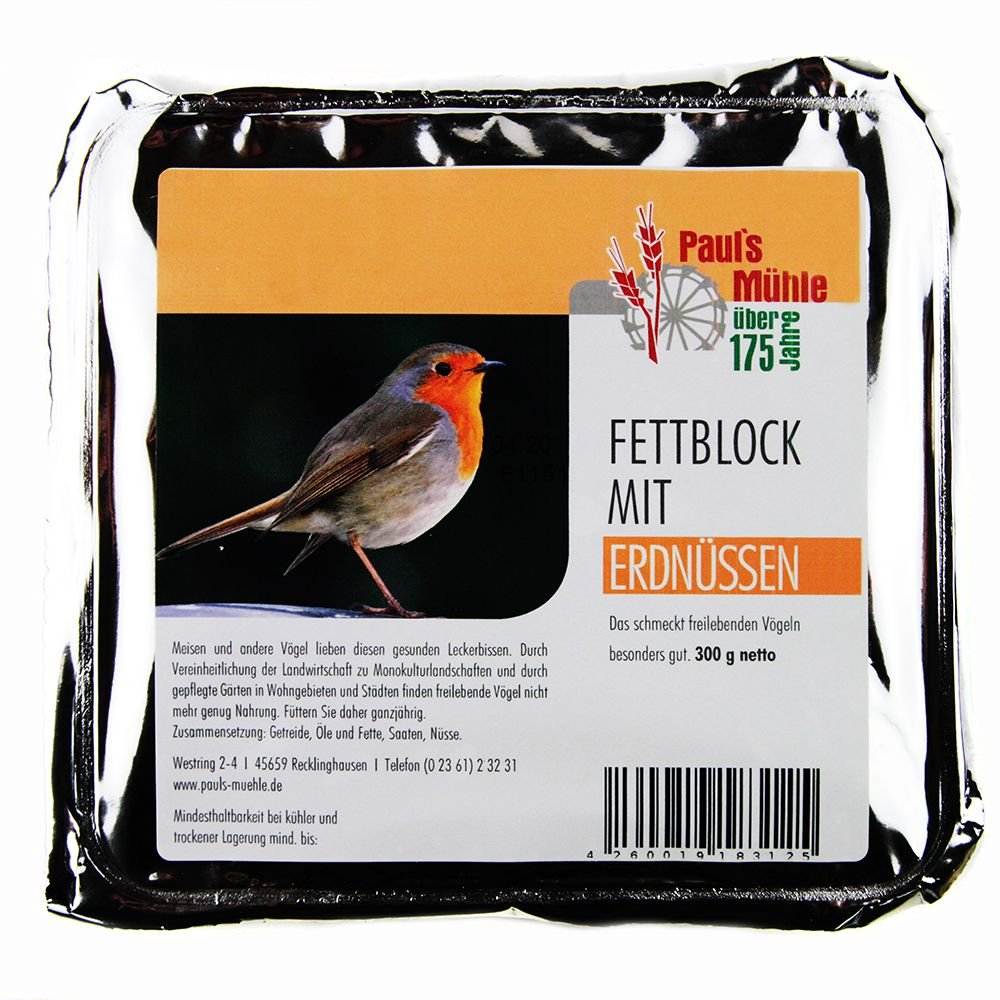 Energieblöcke für Vögel, Paul's Mühle Fettblock 12erPack