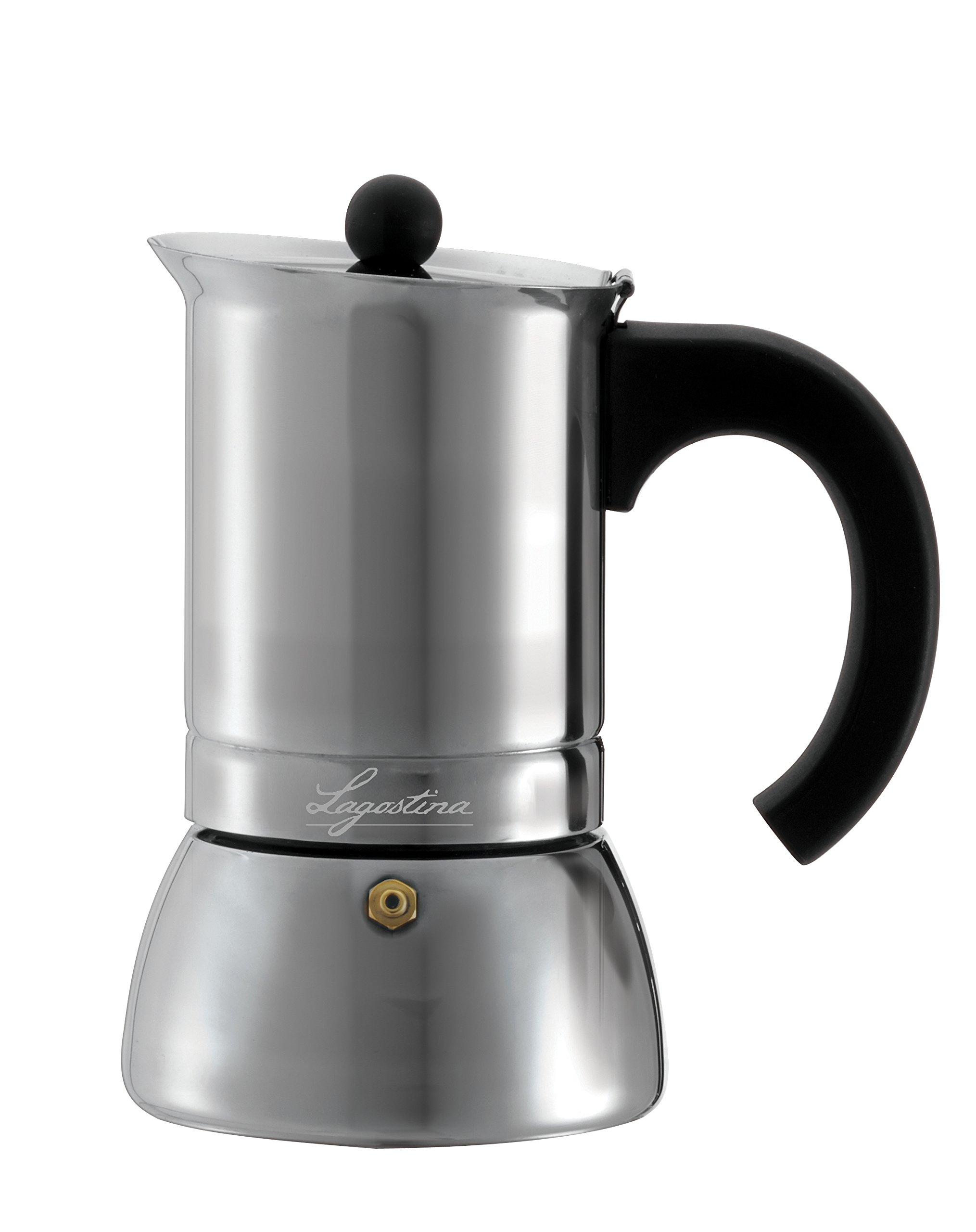 Lagostina T9910464 Stainless Steel Espresso Coffee Maker, 6-Cup, Silver by Lagostina