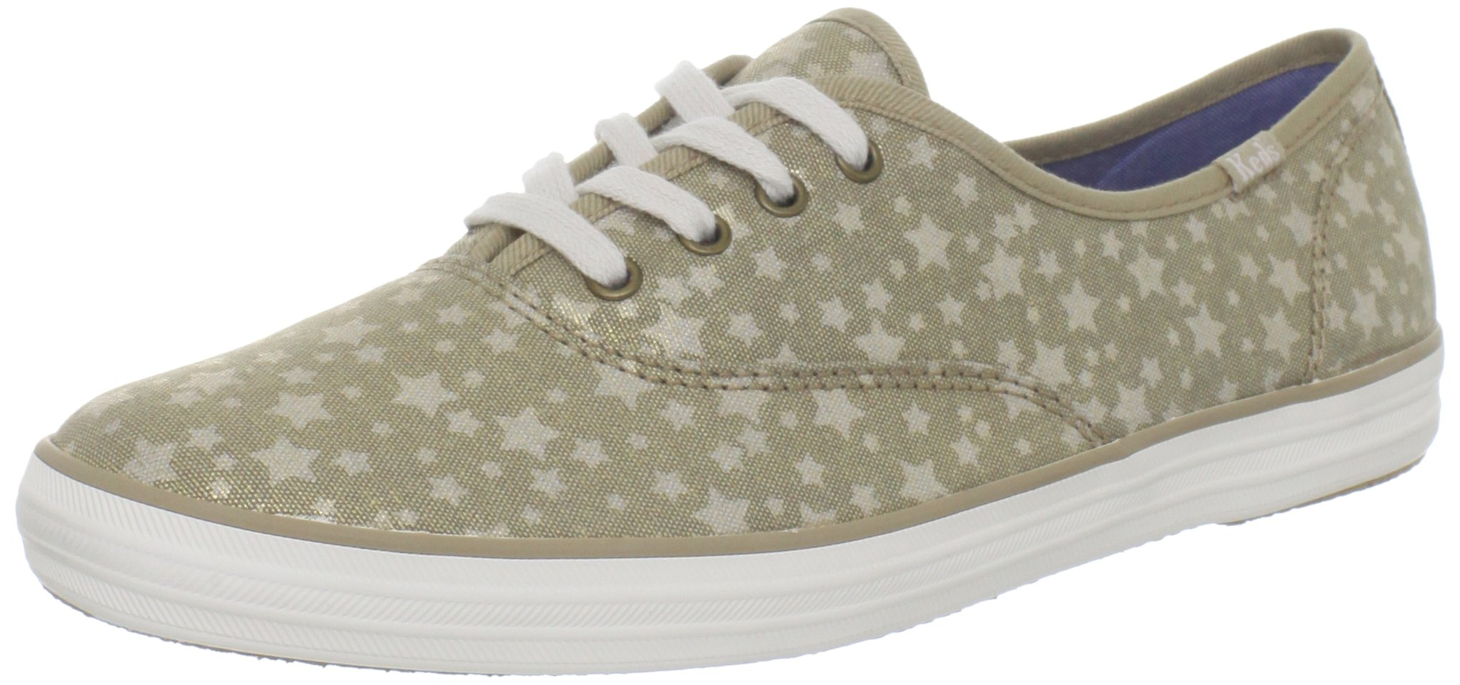Keds Women's Champion Stars Lace Up Shoes,Cream Chambray,7 M US