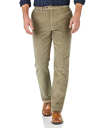 f4fa7788 Light Brown Slim Fit Jumbo Cord Trousers by Charles Tyrwhitt: Amazon.co.uk:  Clothing
