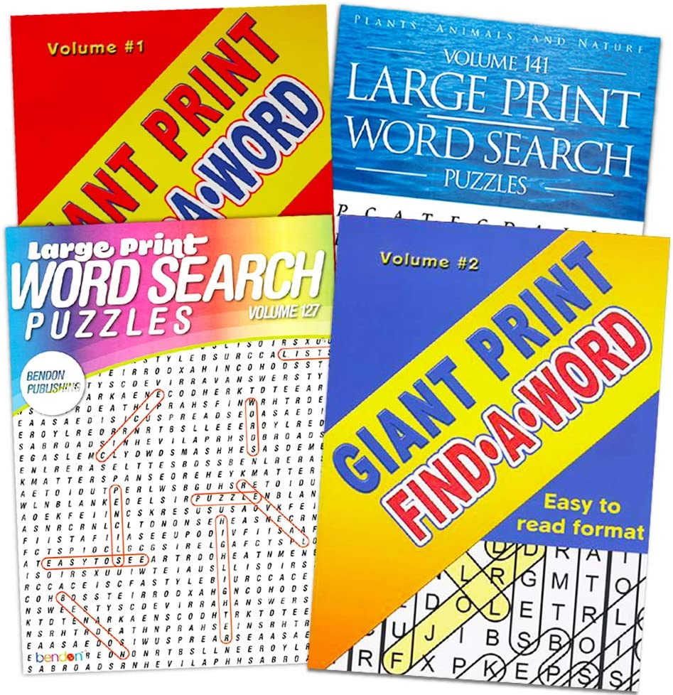 - Amazon.com: Word Find Puzzle Books For Adults Seniors - Set Of 4