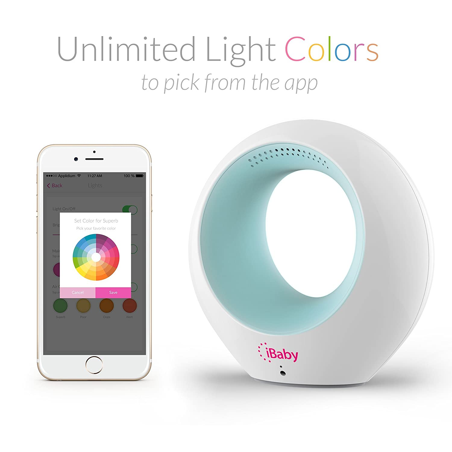 iBaby Air Smart Baby Audio Monitor Review (Temperature & VOC Detector)