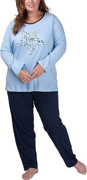 Moonline Plus - Pijama de Mujer en Tallas Grandes (XL-4XL) con Estampado Dreams Come True