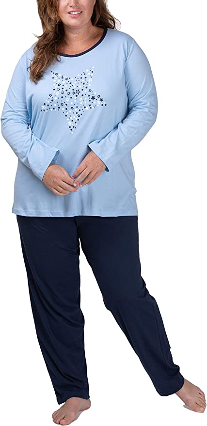 Moonline Plus - Pijama de Mujer en Tallas Grandes (XL-4XL) con Estampado Dreams Come True: Amazon.es: Ropa y accesorios