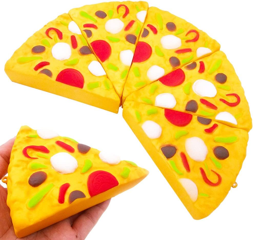 ot JUMBO Pizza Squishy Memory Foam Junk Food Toy Scented Sensory Stress
