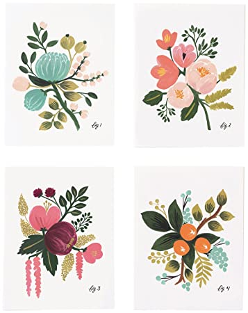 Rifle Paper Co Assorted Card Set Botanical 8 Ct