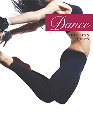 CHILDRENS GIRLS SILKY FOOTLESS DANCE TIGHTS IN BLACK