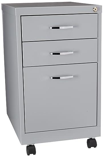 Hirsh SOHO 3 Drawer Filing Cabinet In Platinum