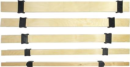 wiedergutschlafen Ajuste de dureza, juego completo de 53 mm x 8 mm (5 listones de madera y 10 deslizadores) para ajustar la dureza de tu somier (950).