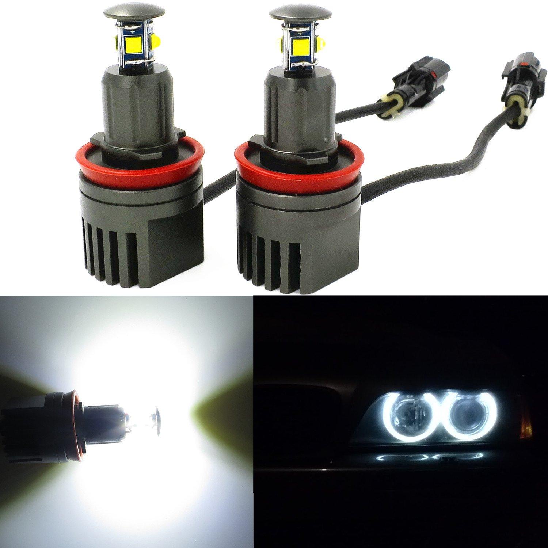 4f3858a47738 Alla Lighting 40W H8 CREE LED Angel Eye 360-Degree Halo Bulb Light Lamp  6000K Xenon White For BMW E60 E61 E90 E92 E70 E71 E82 E89 1 3 5 Series X5  X6 ...