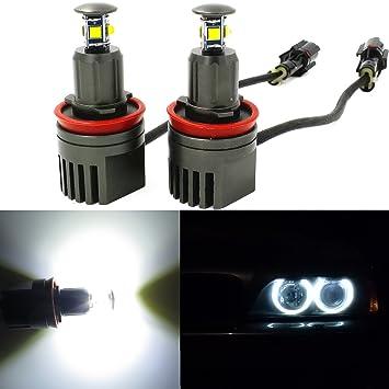 Alla Lighting - Bombilla LED CREE de 40 W, H8, tipo halo / ojo