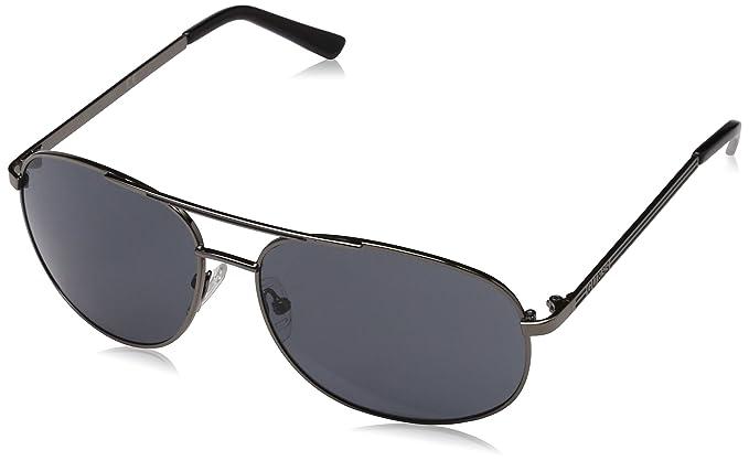 GUESS Guf108Gun-360, Gafas de Sol para Hombre, Gun Metal, 60