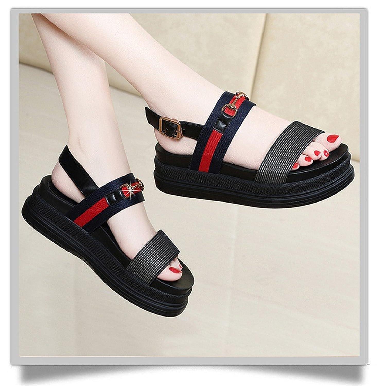 HUAHUA Hochhackige Sandalen Weibliche Koreanische Version Des Wilden Net Garn Tau - Schwere mit Geschlitzten Für Wasserdichte Taiwan Weibliche Schuhe sPwpFtq
