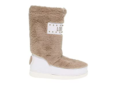 aa1accfc0be3 Amazon.com  Love Moschino Women s 24052BEIGE Beige Polyester Ankle ...