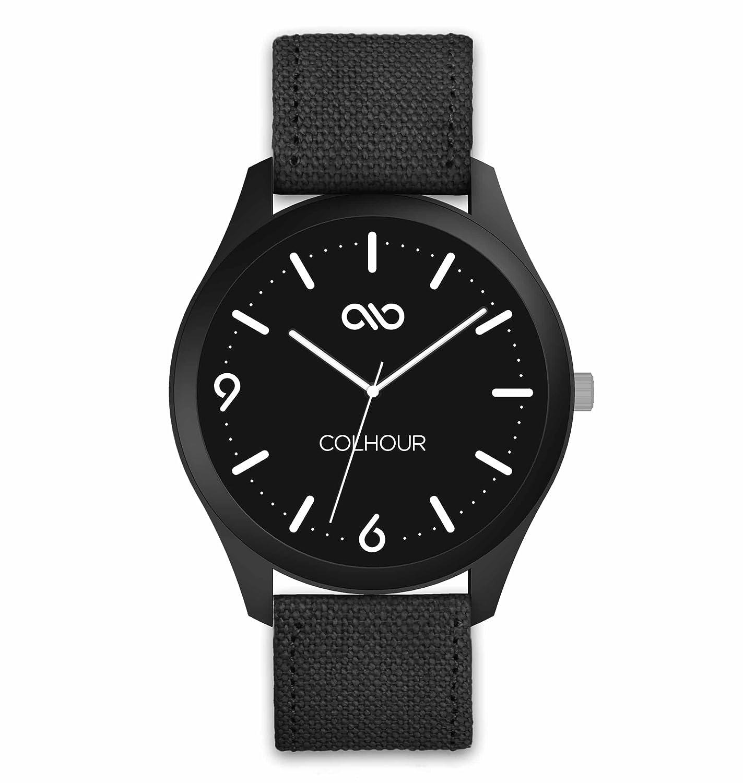 Colhour Watches - Reloj de Pulsera Unisex con Correa de Tela, diseñado y Creado en ESPAÑA y Mecanismo japonés Miyota by Citizen