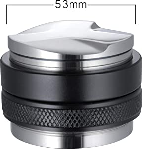 53mm Coffee Distributor & Tamper, MATOW Dual Head Coffee Leveler Fits for 54mm Breville Portafilter, Adjustable Depth- Professional Espresso Hand Tampers