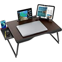 Laptop Desk for Bed, SAIJI XX-Large Foldable Bed Tray Table for Eating Breakfast, Writing, Working, Gaming, Drawing with…