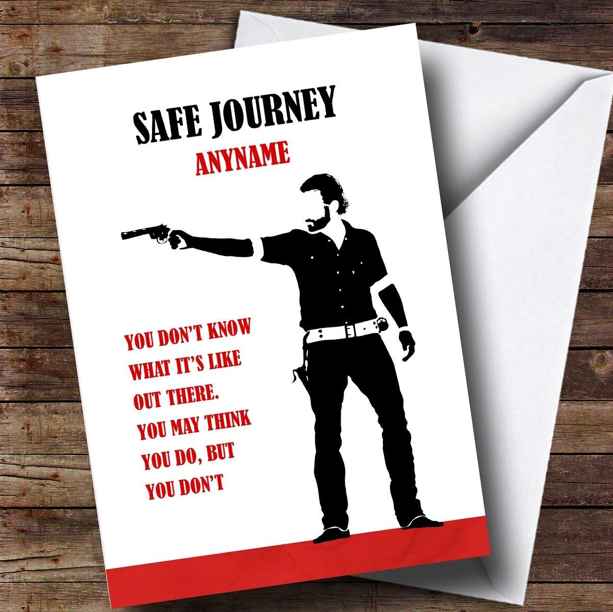 Amazon.com : Personalized Safe Journey Walking Dead Rick Quote Bon ...