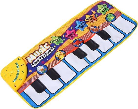Bebé Piano Estera de arrastre musical, Bebé Electrónico Música de piano Estera de juego Sonidos de animales Teclado musical Rastre Manta Regalo de los ...