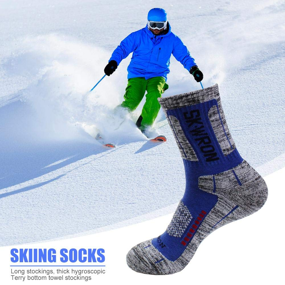 Thicken Elastic Outdoor Sports Skiing Trekking Aoewsie Sports Socks for Men /& Women,Breathable Mountaineering Socks