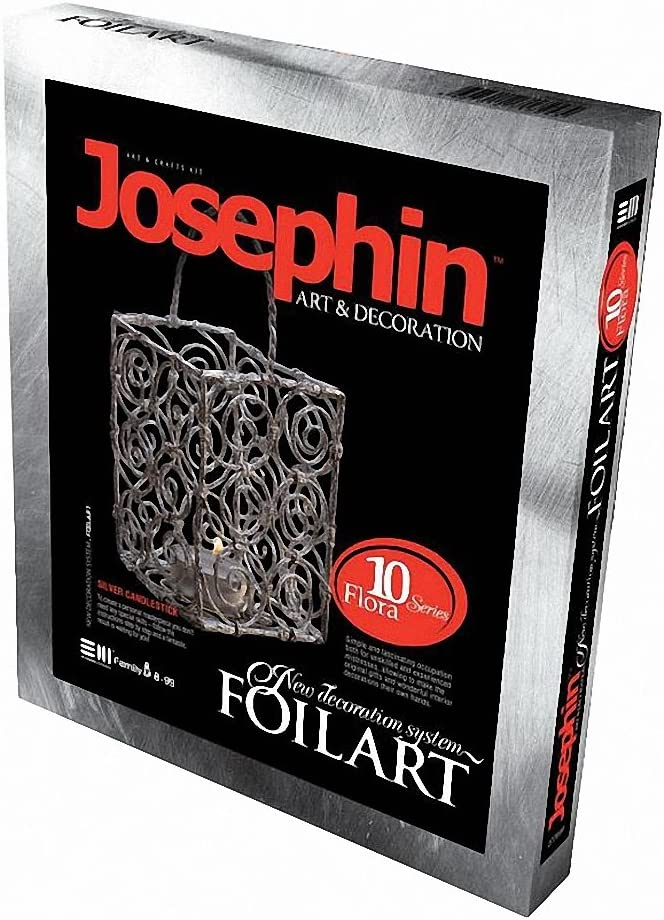 Josephin Foil Arts Silver Candle Holder