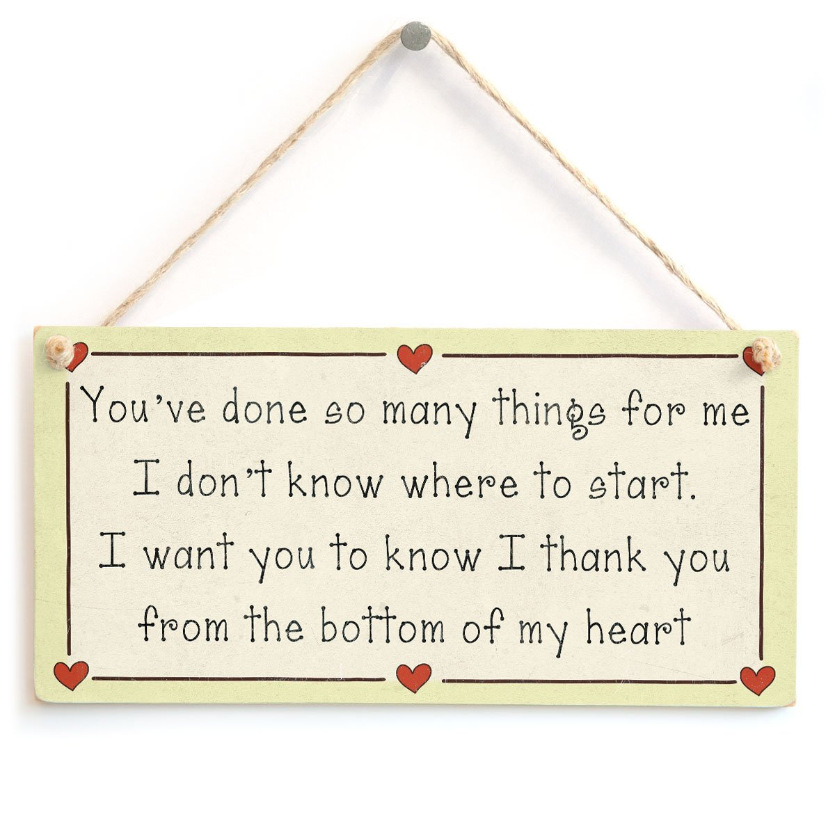 You've done so many things for me...thank you - Special Thank You ...