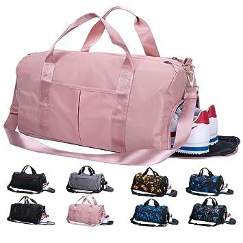 5ab560df6722b Lantch Männer Sporttasche Reisetasche Frauen Weekender Handgepäck Tasche  mit Schuhfach(pk)