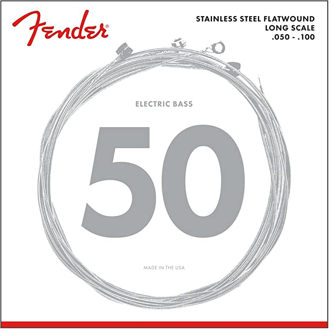 Amazon Fender 9050ml Stainless Steel Flatwound Long Scale