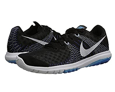 on sale 33b9d 36ba1 Nike Women s Flex Fury Running Shoes, Noir Blanc Bleu (Black White