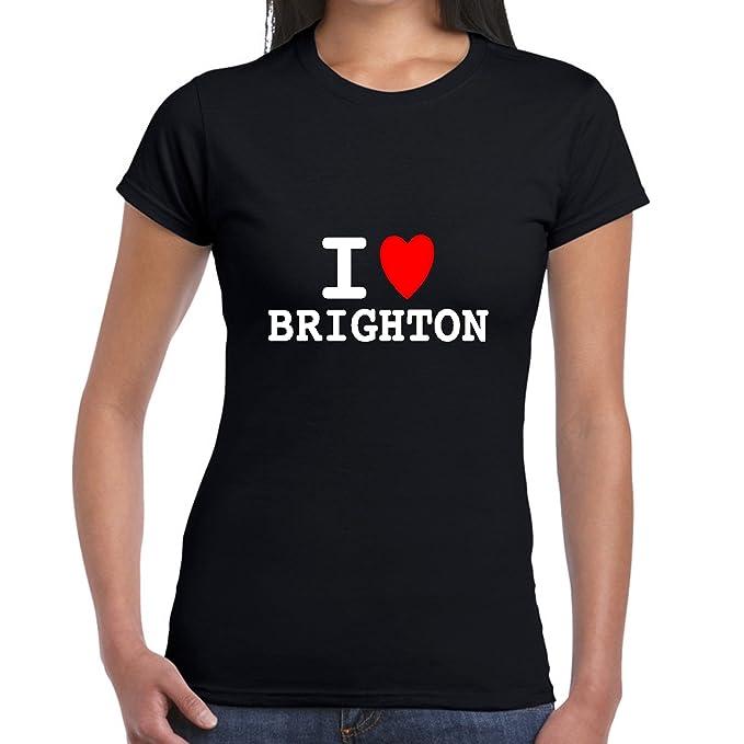 I heart love BRIGHTON T SHIRT girly T WOMENS lady fit skinny BNWT retro funny