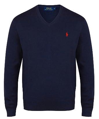 aa04b12681a961 Ralph Lauren Authentique Pull (S, Bleu Marine)  Amazon.fr  Vêtements et  accessoires