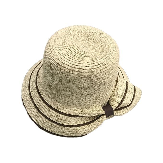 Cappelli da Donna Grandi Fiocchi Cappelli di Paglia Parasole Viaggi  Cappelli da Spiaggia  Amazon.it  Abbigliamento 8f2b90456ab6