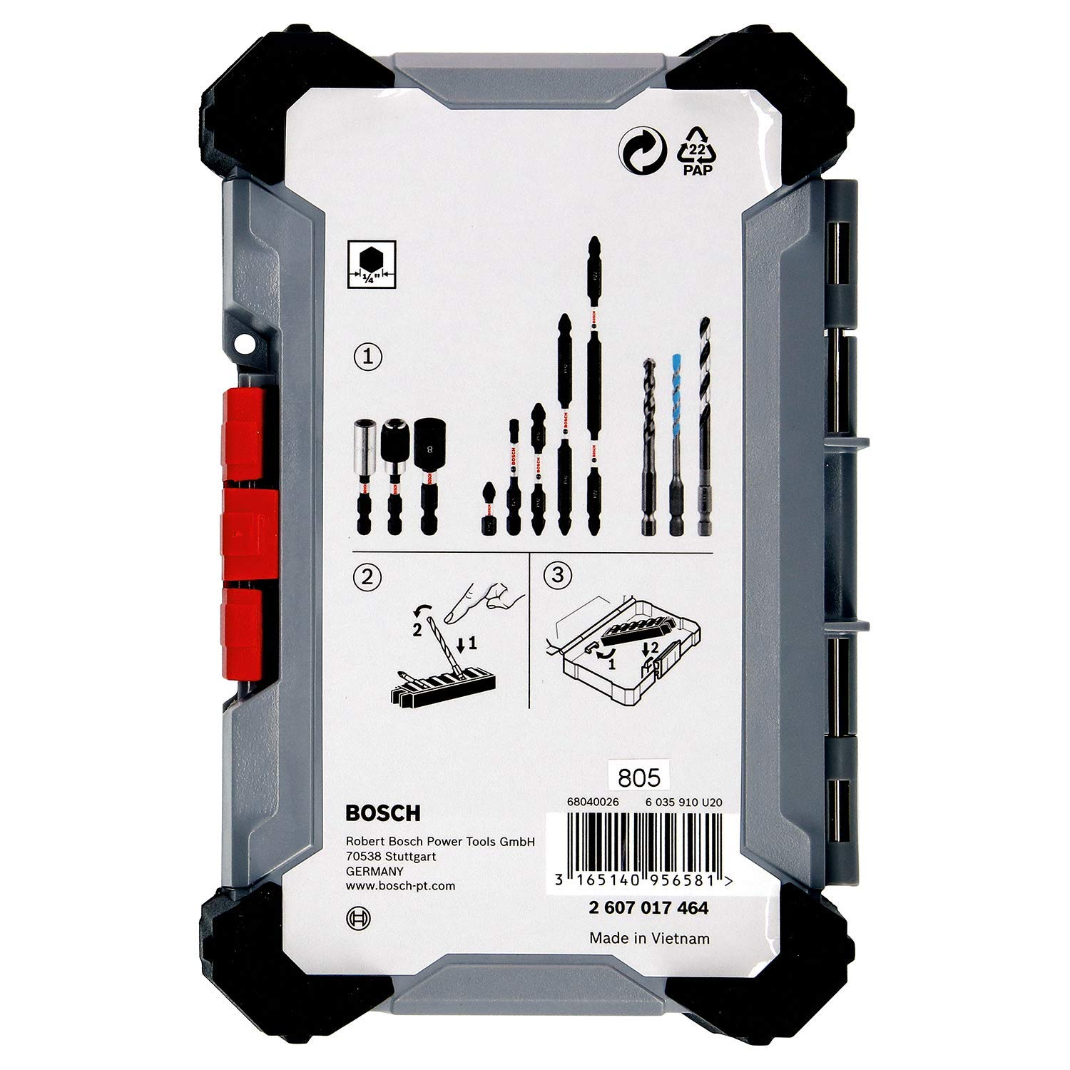 Bosch Professional 2607017464 40 Pieces Drill Set Pick and Click with Universal Holder Extra Hard Screwdriver Bits