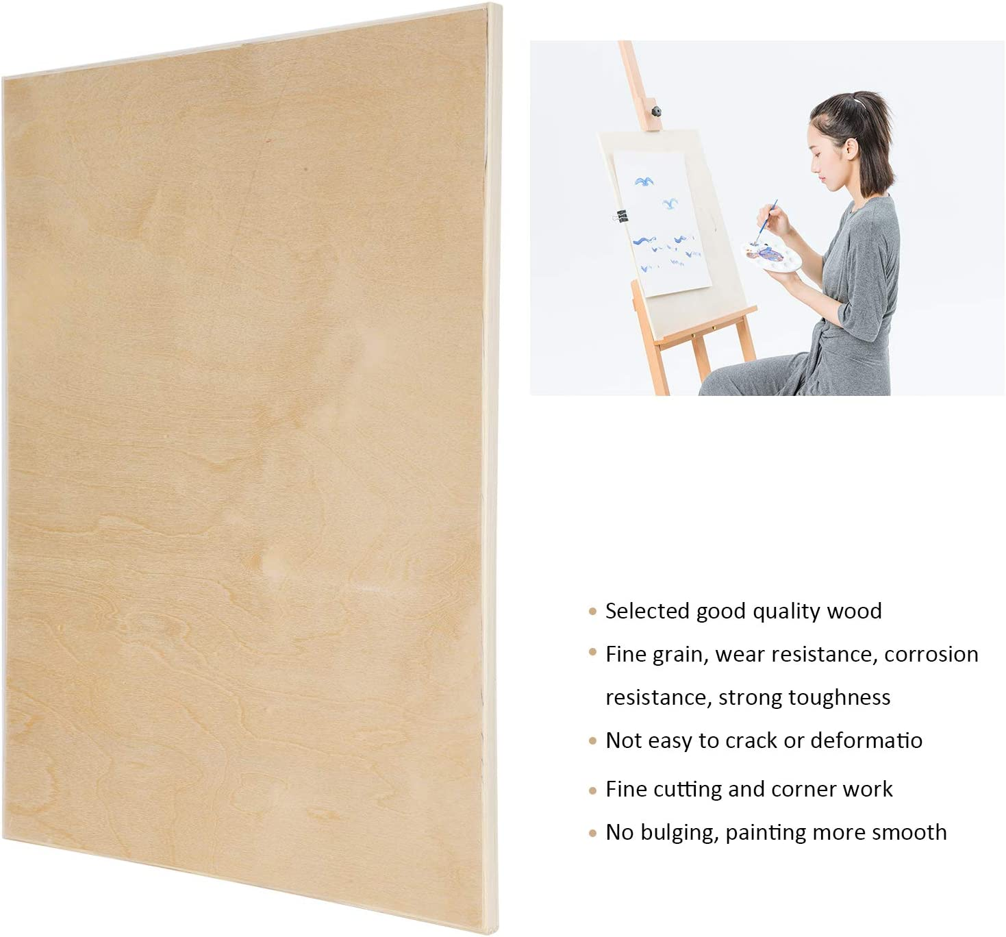 Zeichnen Holzstich Holz Zeichenbrett 4K Hohlskizze Kinder Kunst Malerei Staffelei Perfekt f/ür Kunsthandwerk Schulprojekte und DIY-Projekte Malen