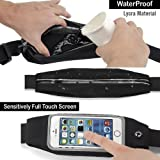 Easierforyou iPhone 7 Plus (can fit iphone 6 plus iPhone 8 Plus as well) Waist Band Walker Waistband Sports Exercise Case Running Pouch Good for Hiking, Biking, Walking