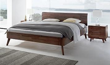 Massivholzbett Nussbaum Doppelbett 180x200 Bett Nussbaum